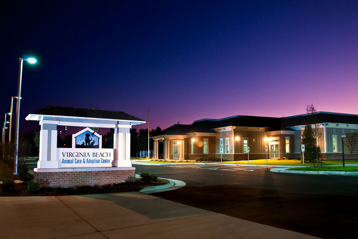Virginia-Beach-Animal-Care-&-Adoption-Center-Night-View-completed